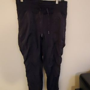 Black Parachute Crop Pants